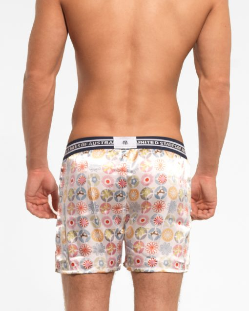 white traveler boxer short by Croota