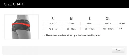 Boy Shorts Size Chart